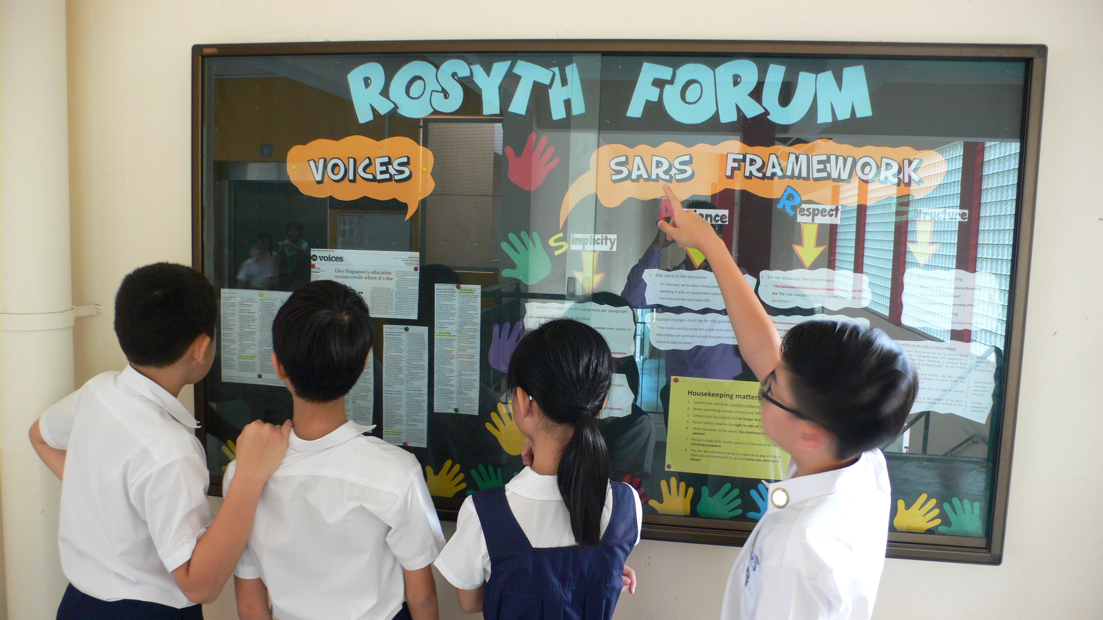 The Rosyth Forum where students can write into to air their views on current affairs